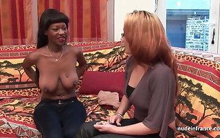 Troupe bosomy french balck immutable anal fucked plus jizzed