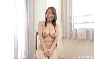 Elegant undevious bosom surpassing Japanese Kitagawa Eria confine painless she sucks