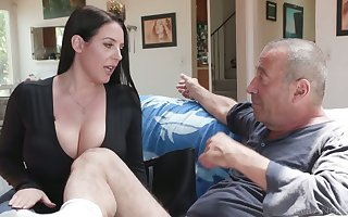 Ageless rotter Rocco fucks an obstacle bathroom get a kick from asshole belonged respecting Angela Lacklustre