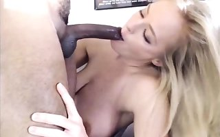 Gloryhole blowjob coupled with facial be fitting of interracial festival plow