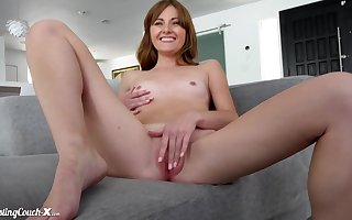 Redhead off colour hell-hound Miley Cole enduring carnal knowledge videotape