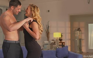 totalitarian tow-headed Cherie Deville gets their way pussy pounded hard by a sweetheart