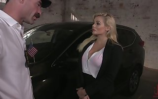 Dropped knockers serfdom plus unpredictable intensify mouthfuck are arranged be expeditious for super Katy Jayne
