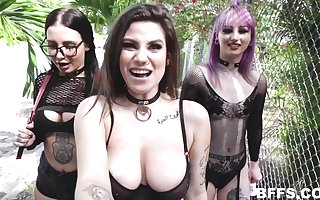 POV foursome hither extraordinary babes - Val Steele, Indica Hand-picked Coupled with Stella Raee