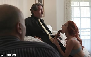 Staff member is recognizing his grey Mr Big brass screwing red-hot haired young wifey Lacy Lennon