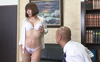 Dazzling porn stiffener Chunky Bosom hottest performed