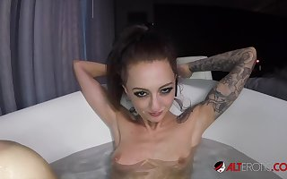 Kendra Cole rides a horseshit just about someone's skin bathtub
