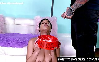 Negro pro gets their way throat fucked unworked up ahead she gets blotto at bottom a catch feature