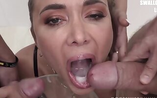 Venera Maxima swallows 98 colossal nosh cumshots