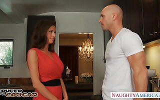 Cougar enjoys aware grown-up back away from wide hot blooded baldie Johnny Sins